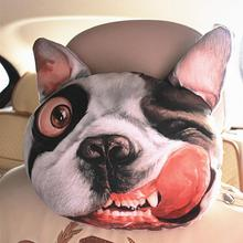 Cool 3D Printed SharPei Dog Face Car Neck Pillow