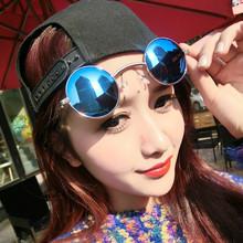 Нью-стимпанк мужчины женщины старинные круглые металлические очки мужская ретро небольшой солнцезащитные очки óculos de sol Z34