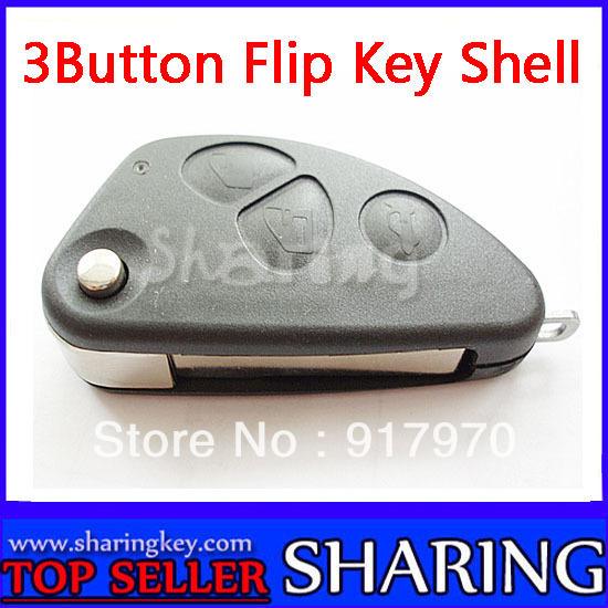 NEW ALFA ROMEO 147 156 166 GT JTD TS FLIP BLADE FOB  3 Button REMOTE CONTROL KEY  Shell Cover