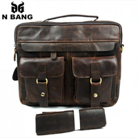 100% vintage cow genuine leather men messenger bags,casual style crossbody bags for men,2 colors bolsas free shipping