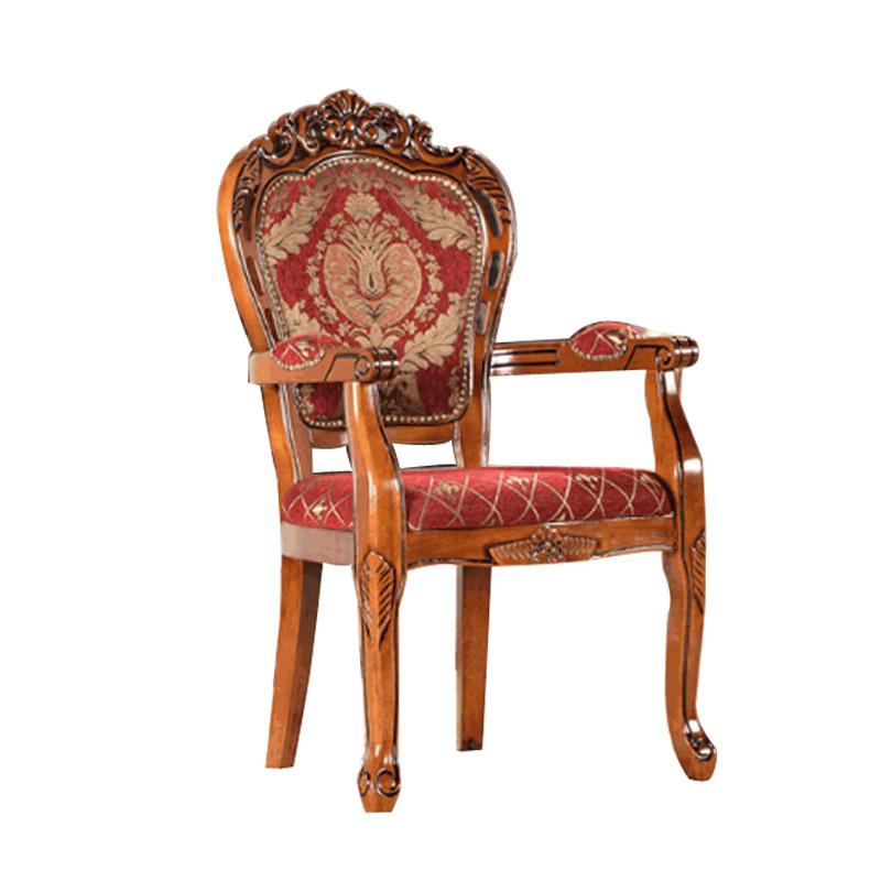 European style dining chair wood chairs modern minimalist