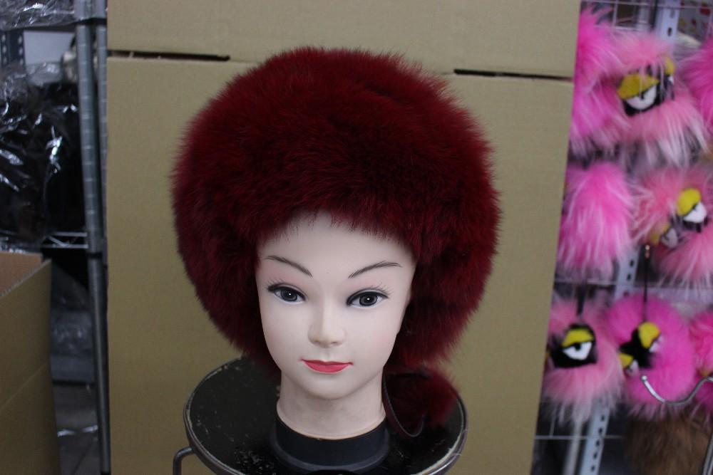 Free shipping fashion fox hat  real fur