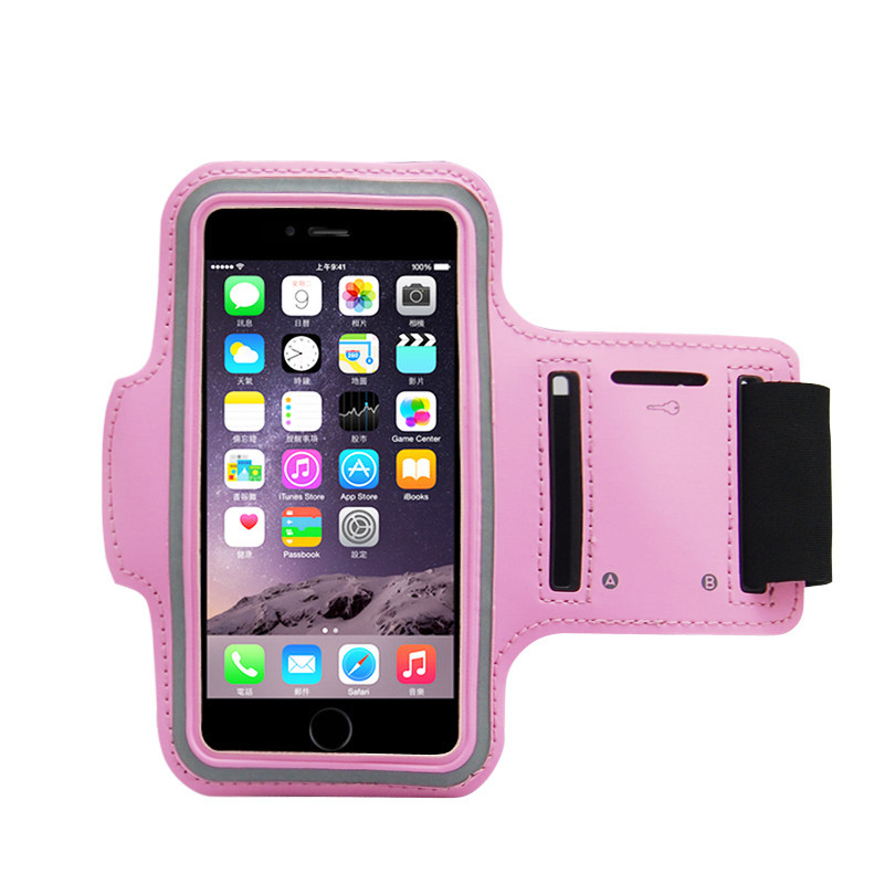 Adjustable Running Sport Gym Armband Bag Case For Apple Iphone 6 4.7 Waterproof Jogging Arm Band Mobile Phone Pink Premium Cover(China (Mainland))