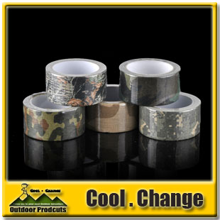 New Arrival Bionic Camouflage Adhesive Tape 10 Meters Cotton Cloth Camera Rod Gummed Tape(China (Mainland))