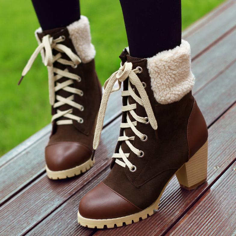 ENMAYER New hot sale new fashion Ankle boots high qulity lady, ladies, black and red brown and yellow brown women's boots(China (Mainland))