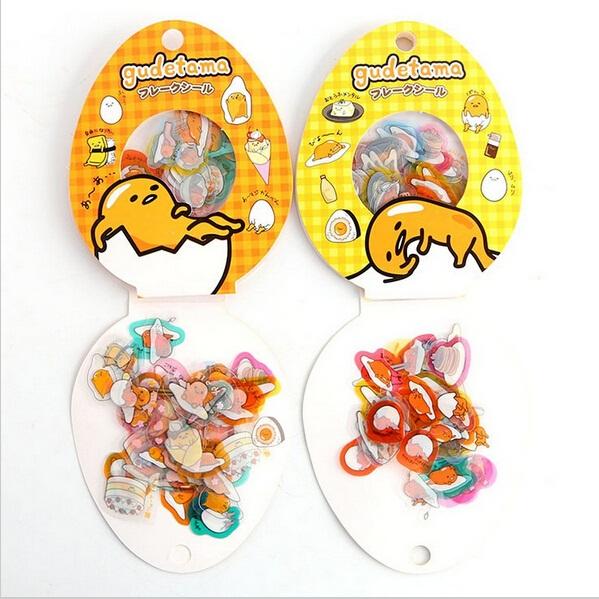 60PCS/Pack New Japan Mr Egg series multifunctional transparent sticker pack DIY deco sticker office school supplies(China (Mainland))