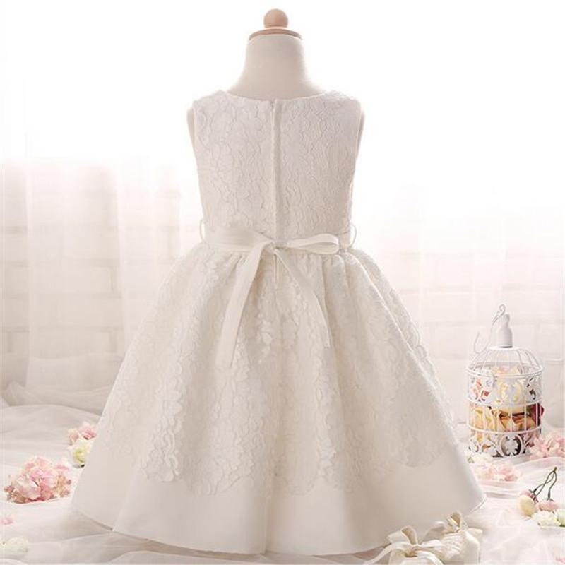 Скидки на 2016 мода кружева цветок crytal детское платье высокое качество рукавов младенческая малышей одежда подходит 0-2 лет дети