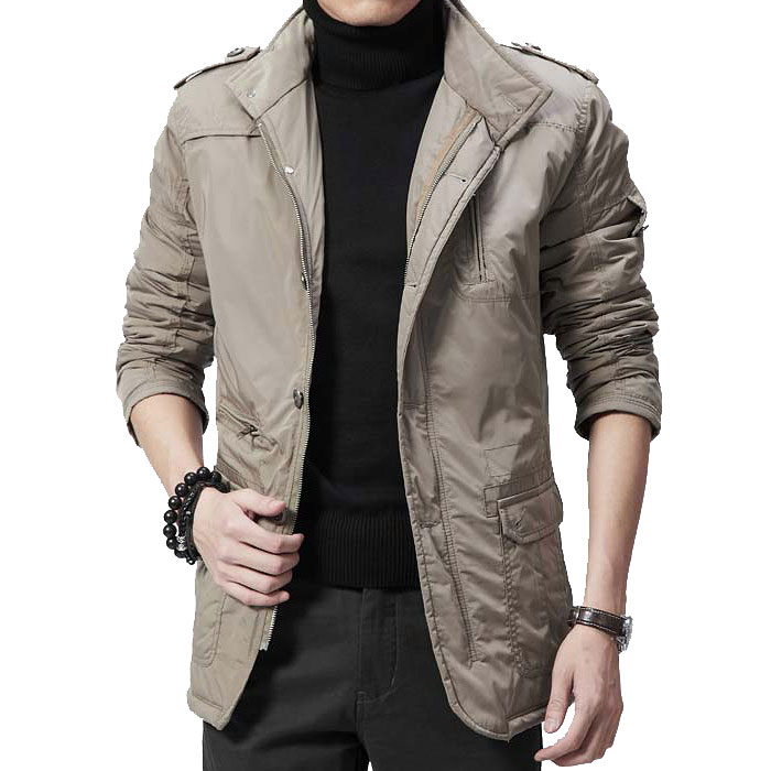 Aliexpress.com  Buy 2015 Winter New Men Warm Cotton Padded Jacket Men Epaulet High Collar ...