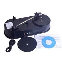 Mini USB Turntable phonographe platines vinyles Audio Player Support du plateau tournant convertir LP Record à fonction MP3 F13766(China (Mainland))