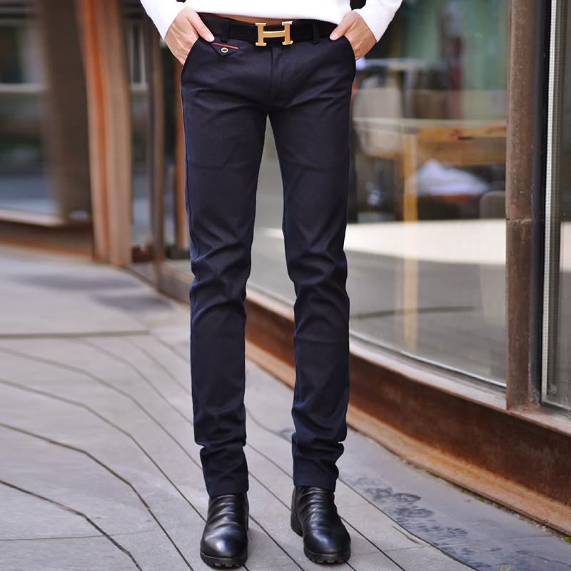 Funky-cargo-trousers-for-men-solid-color-dark-blue-skinny-slim-fit-mens-dress-pants.jpg