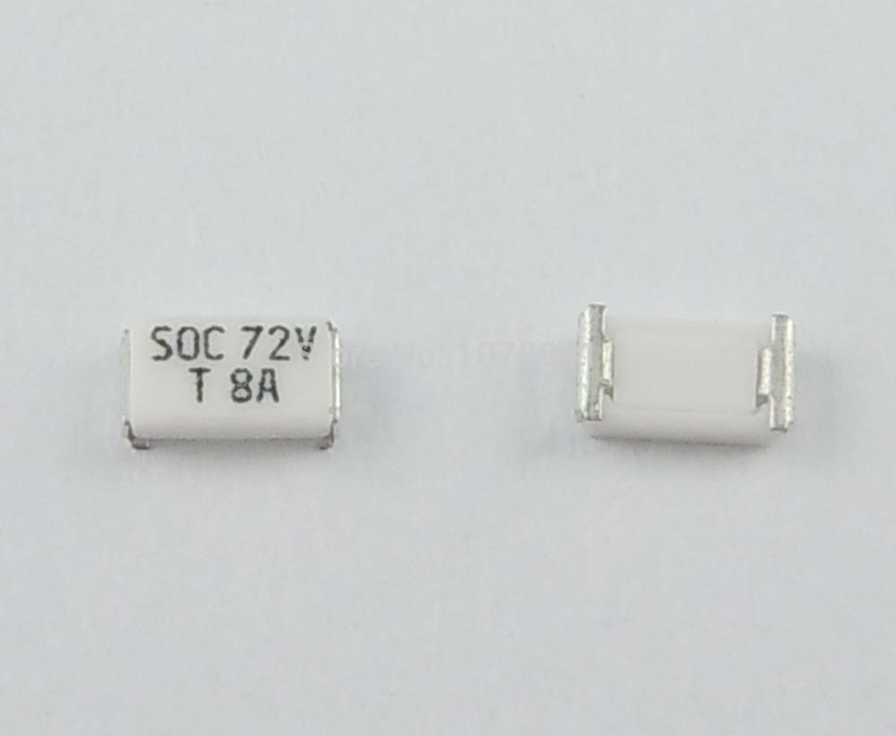 100 Pcs Per Lot SOC SMD SMT 1206 8A T8 Amp 72V Fuse<br><br>Aliexpress