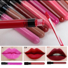 36 colors Makeup Lip stick Waterproof Liquid Lipstick Pencil Lips Lip Gloss 1pcs/lot Women Beauty Tool