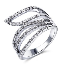 Buy TT Fashion Woman Hollow Wedding Rings Sparkling AAA Grade Cubic Zircon High Rhodium Color Lead Free for $7.75 in AliExpress store
