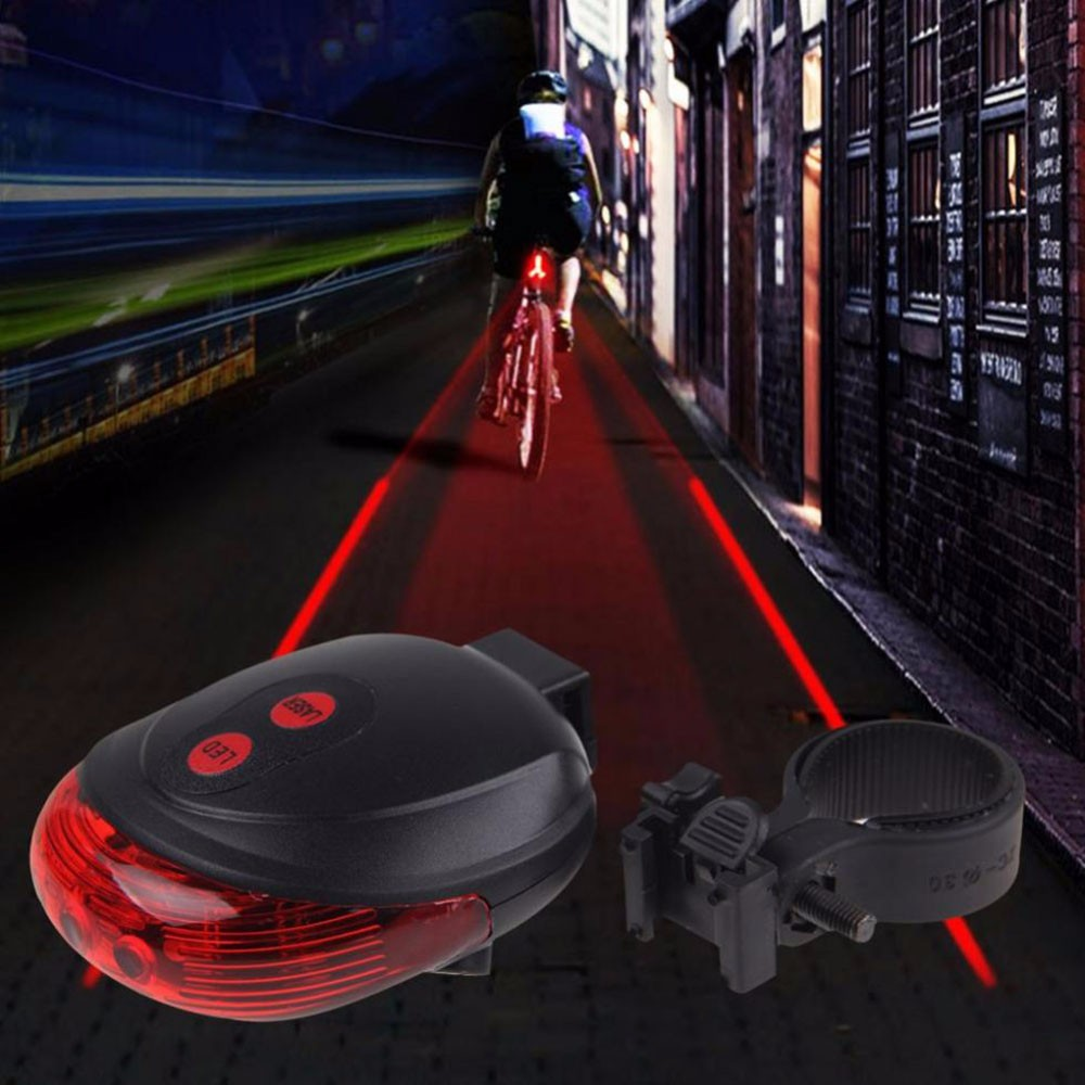 Bike-Laser-Tail-Light-5LED-2Laser-Cycling-Safety-Bicycle-Alam-Rear-Lamp-Water-Resistant-7-Modes
