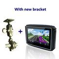 4 3 inch waterproof IPX7 motorcycle gps navigation gps moto motorcycle gps navigator with new bracket