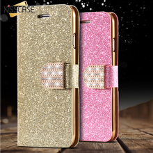 Buy KISSCASE iPhone 5S Leather Case Gold Luxury Bling Diamond Gold Stand Flip Case iPhone 5 5S SE Wallet Card Slot Cover Bag for $3.99 in AliExpress store