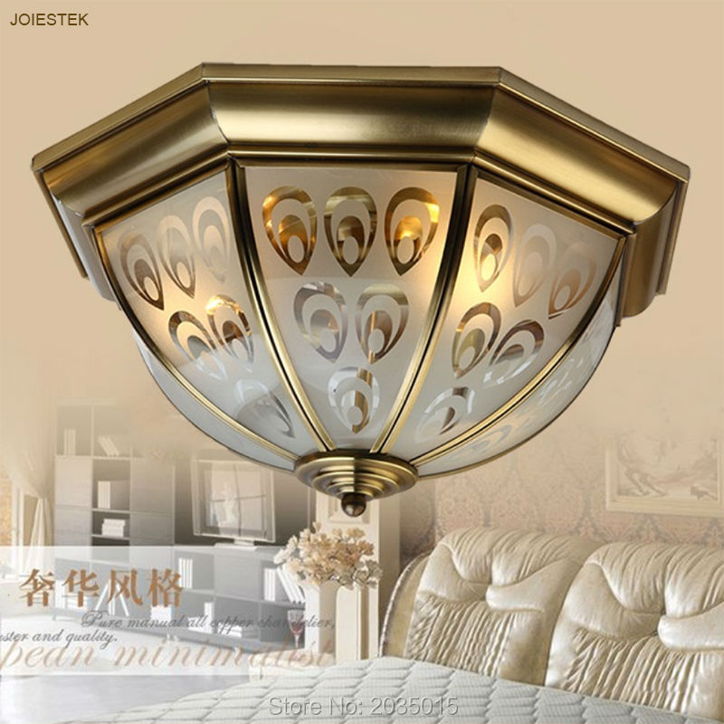 European Style Pure Manual Copper Art Ceiling Lights Bedroom Kitchen Aisle Balcony Corridor Peacock Lamps 1950(China (Mainland))