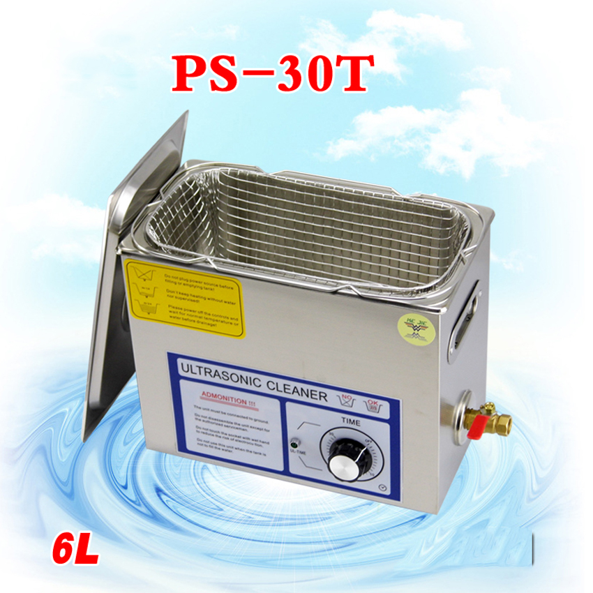 Free DHL1PC 110V/220V PS-30T 180W6L Ultrasonic cleaning machines circuit board parts laboratory cleaner/electronic products etc(China (Mainland))