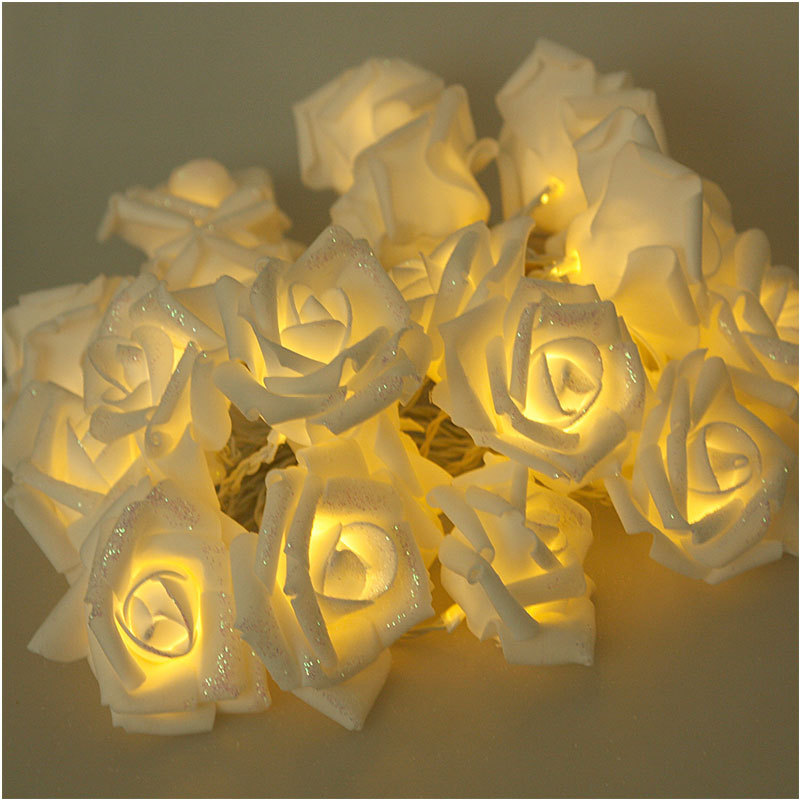 Special Design 3M 20 Rose Flowers String Lights Wedding Party Home Patio Decor Lighting #56892(China (Mainland))