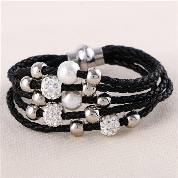 Прекрасный большой Европейской и Американской моды кожаный браслет женский ювелирные изделия простой темперамент прилива
