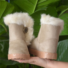 2015 children winter boots kids snow boots thickening cotton padded children shoes Fashion warm boys girls