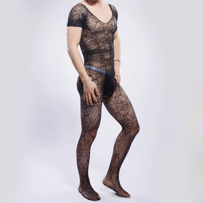 Super Sexy Socks & Hosiery Transparent Bodystockings for Men Gay Erotic Underwear Men's Pantyhose Hollow Out Bodyhose gay sock