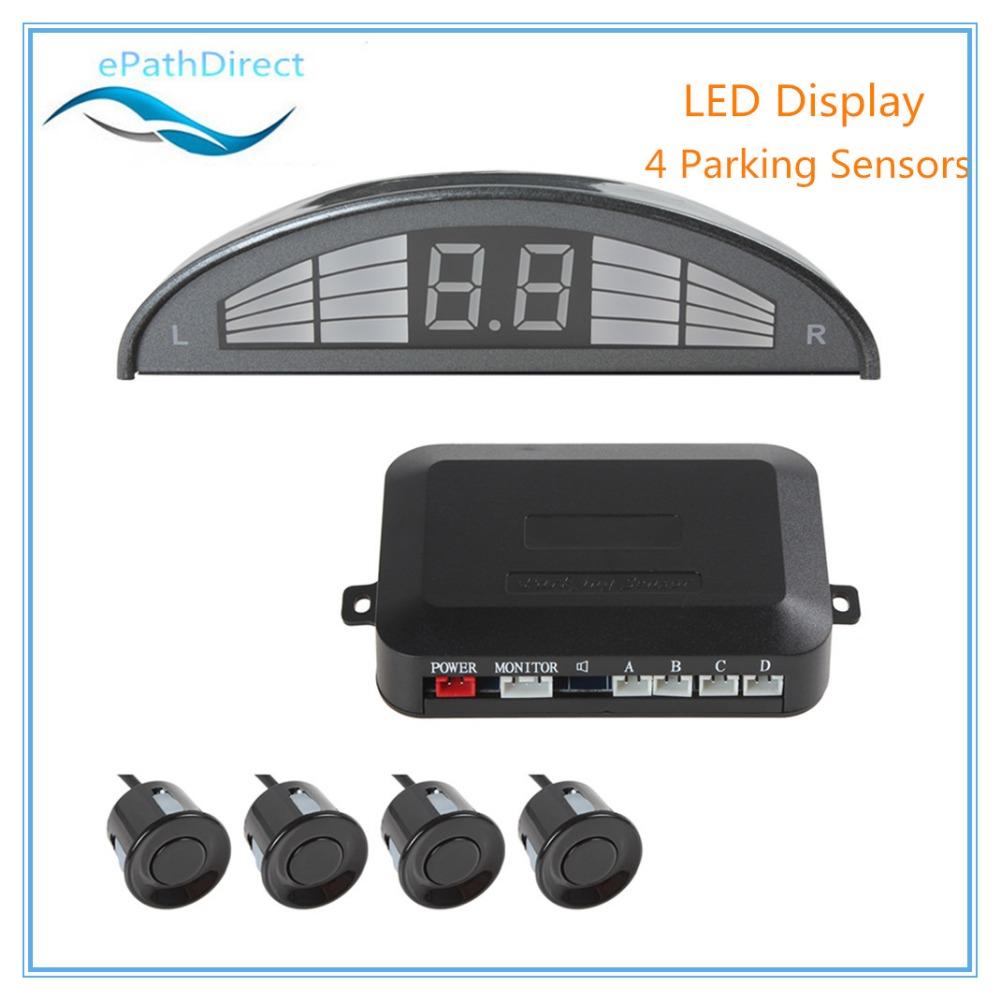 Easy Install Digital Car LED 4 Sensors Parking Sensor Kit Display with Car Cigaratte Lighter<br><br>Aliexpress
