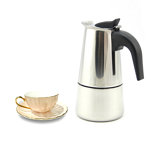 Portable Stainless Steel Moka Latte Espresso Coffee Maker Pot Percolator Stove Top Coffee ...