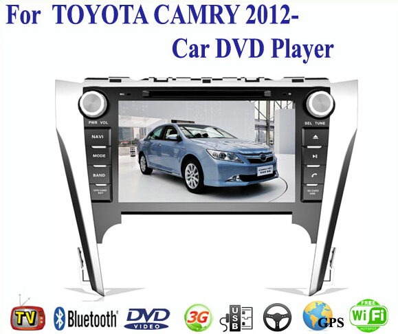 2 Din Car DVD Player Fit TOYOTA CAMRY 2012 2013 2014 GPS TV 3G Radio WiFi Bluetooth Wheel Control(China (Mainland))