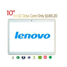 Lenovo Tablet 10 Inch MTK6592 Octa Core 1280*800 IPS Phone Call Android Tablet PCS 4GB/32GB Dual SIM Tablet PC 9.7