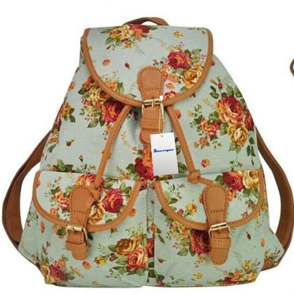 Backapck Women Girl Lady Fashion Vintage Cute School Book Campus Bag Backpack(China (Mainland))