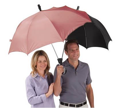 Free Shipping 2Pieces Novelty Umbrella The Dualbrella / Two Person Umbrella /Lover Umbrella/ Couples Umbrella(China (Mainland))