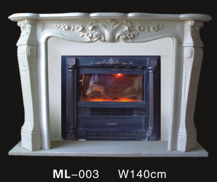 Indoor White Marble Cnc Carved Decorative Gas Fireplace Mantel In Fireplaces From Home