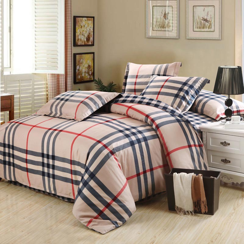 Brand bedding sets 4pcs linens adult queen king size for Designer inspired bedding