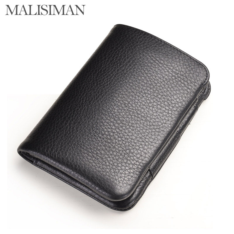 Malisiman Brand Luxury Business Mens wallets Vegetable Tanned Genuine Leather Hasp Mens Standard Wallets Black and Coffee<br><br>Aliexpress