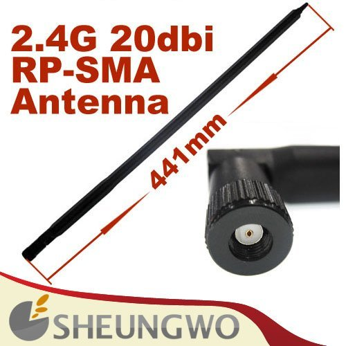 50pcs free shipping 2.4GHz 20dBi WIFI Booster Wireless RP-SMA Antenna WLAN,wifi antenna,sma antenna,wifi booster