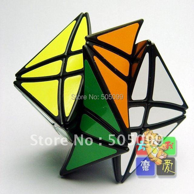 Lanlan Flower Rex Puzzle magic Cube Black Speed Cube Lanlan Flower Rex Puzzle