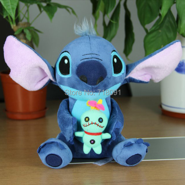 25CM,1PC,Original Stuffed Toys Plush Stitch Doll For Children Gifts,Drop Free Shipping