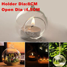 5PCS/Lot Crystal Glass Candlestick Hanging Candle Holder Romantic Dinner Weeding Decor(China (Mainland))