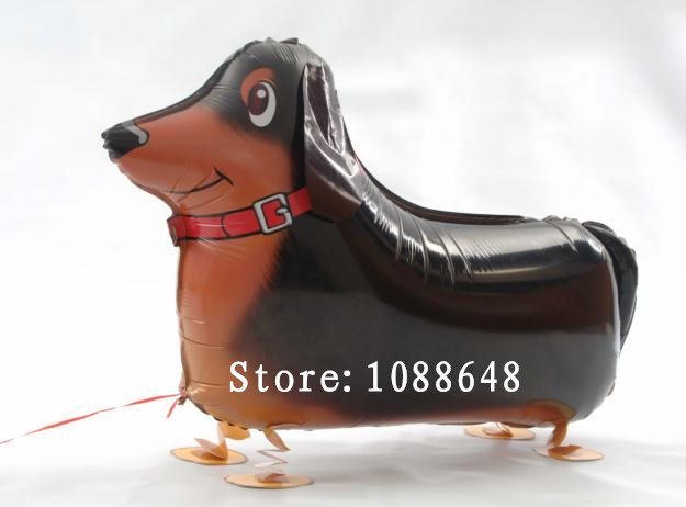 10 inflatable walking pet balloon,Sausage dog animal ballon foil balloon birthday gift