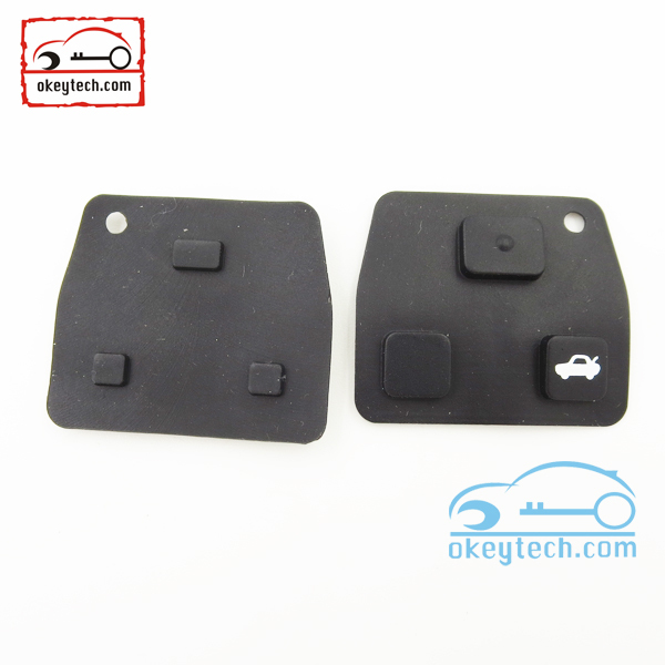 100pcs/ lot okeytech Toyota key pad for toyota 3 buttons key shell DELIVERY IN 12 HOURS(China (Mainland))