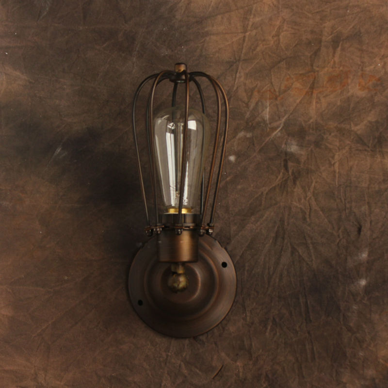 Wall Mounted Industrial Lamp : Vintage-Wall-Lamp-American-Style-Industrial-Edison-Lamps-Beside-Mounted-Cage-Art-Deco-RH-Loft ...