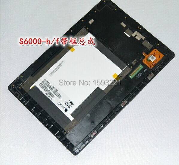 for Lenovo S6000-H /F Lcd display screen Panel + Touch screen Panel digitizer assembly+frame Free shipping <br>