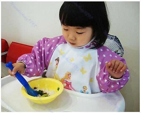 Free Shipping 1pc New Hot Cute Children Baby Todder Waterproof Long Sleeve Art Smock Bib Apron(China (Mainland))