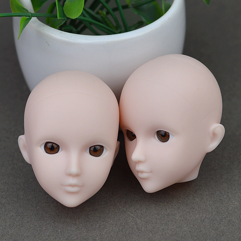 Doll Accent Follow Make-up Doll Heads Authentic 3D Eye XINYI Doll Head For Barbie For 1/6 BJD Doll's Training Make-up Head