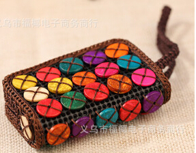 Ms. wallet 2015 New Arrival Hot natural coconut shell craft personalized purse(China (Mainland))