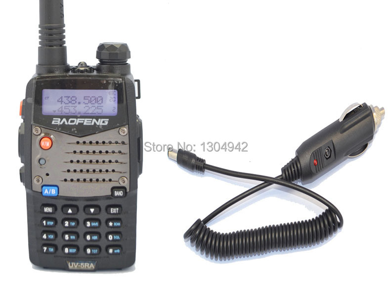 New Black BAOFENG UV-5RA VHF/UHF Dual Band Radio + Car charger cable +free earpiece+free shipping(China (Mainland))