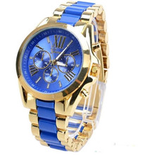 Fashion Men Watch Fashion Geneva Stainless Steel Roman Numerals Quartz Analog WristWatches CC2240