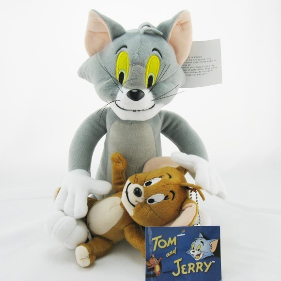 2pcs-lot-Baby-Toys-Cat-Tom-And-Jerry-Mouse-Plush-Stuffed-Toys-soft-Dolls-Boneca-Pelucia
