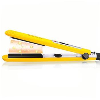 free shipping KF-495 professional yellow fast heat-up hair straightener flat iron styler(China (Mainland))